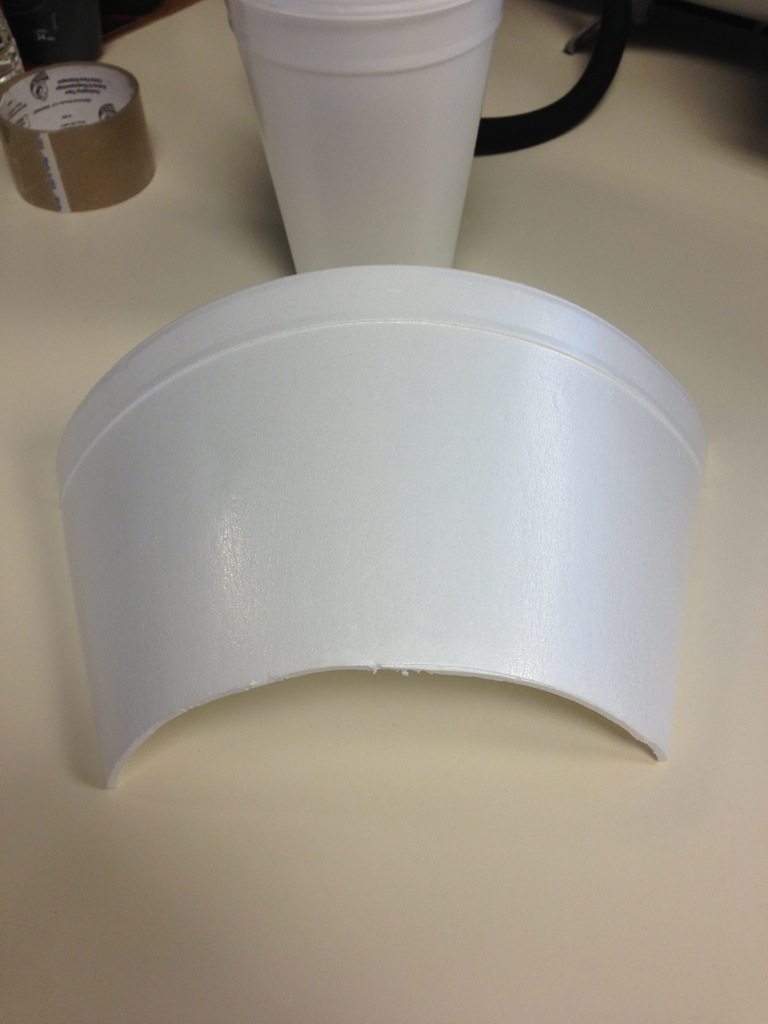 Foam Cup cut and somewhat flattened
